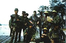 Stoner 63 wikipedia united states navy seals pose for a photo somewhere in vietnam 1970 the seal in the center of the group is carrying a stoner 63a1 mk 23 mod 0 commando altavistaventures Choice Image