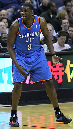 Nazr Mohammed - Mohammed during his first tenure with the Oklahoma City Thunder