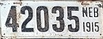 Nebraska license plate 1915 from the private collection of Ryan Smith.jpg