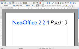 Screenshot di NeoOffice