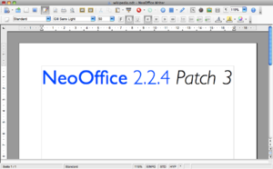NeoOffice - Image: Neo Office 2.2.4 Patch 3 Writer