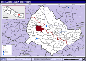 Bilandu - Image: Nepal Okhaldhunga District Bilandumap