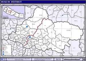 Musikot Khalanga - Image: Nepal Rukum Districtmap