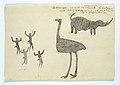Neushoorn, struisvogel en vier figuurtjes.jpeg