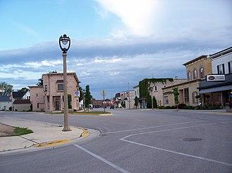 New Holstein, Wisconsin - Main Street in New Holstein