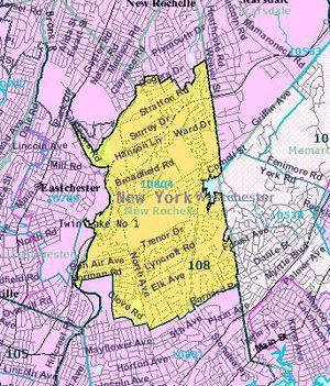 Wykagyl (New Rochelle) - Census map of Wykagyl