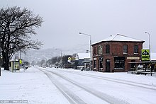 Snowfall In The Christchurch Suburb Of Woolston