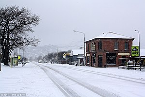 2011 New Zealand snowstorms - Snowfall in the Christchurch suburb of Woolston.