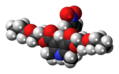 Niludipine molecule spacefill.png
