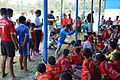 Nisith Ranjan Chowdhury Explains Adductor Stretch - Football Workshop - Nisana Foundation - Sagar Sangha Stadium - Baruipur - South 24 Parganas 2016-02-14 1337.JPG