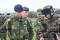 Nordic Battle Group ISTAR Training - Swedish Force Cmdr getting Briefed (5014822082).jpg