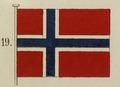Norges handelsflagga, 1821. Utställning Brödrafolkens väl, år 2005 - Livrustkammaren - 65299.tif