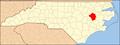 North Carolina Map Highlighting Pitt County.PNG