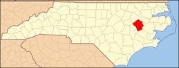 North Carolina Map Highlighting Pitt County.PNG