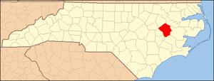 Locator Map of Pitt County, North Carolina, Un...