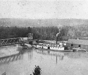 North Star (sternwheeler 1897) - North Star at Fort Steele, BC, probably in 1897 or 1898