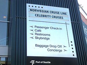 Celebrity Cruises - Celebrity Cruises and Norwegian Cruise Line embarkation point, Port of Seattle Bell Street Pier