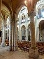 Noyon (60), cathédrale Notre-Dame, bas-côté nord, vue diagonale vers le sud-est par la 2e grande arcade.jpg