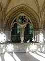 Noyon (60), cathédrale Notre-Dame, cloître, galerie ouest, fenêtre du réfectoire - salle capitulaire.jpg