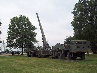 Nuclear artillery - A 280 mm Atomic Cannon at Aberdeen Proving Ground