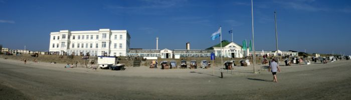 "Panorama ""Giftbude"" at Norderney, Germany"