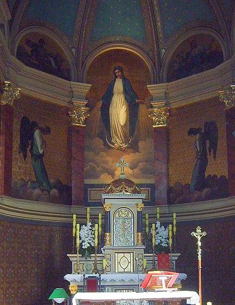 Plik:Ołtarz w kaplicy pałacu Ballestremów.JPG