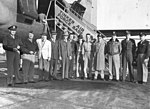 """OCAMA commander Maj. Gen. Fred S. """"Fritz"""" Borum with military and civilian managers, October 1948.jpg"""