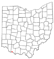 Location of Higginsport, Ohio