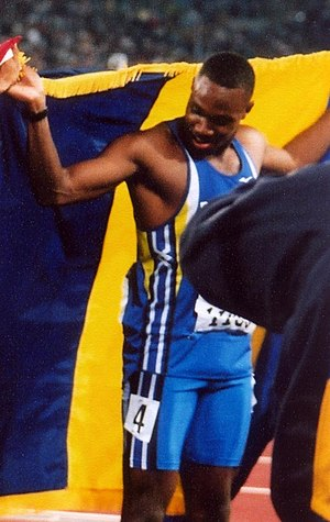 Obadele Thompson - Thompson after winning the bronze medal in Sydney, 2000