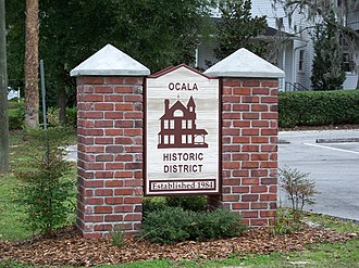 Ocala Historic District - Western entrance to Ocala's Residential Historic District