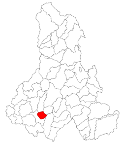 Location of Odorheiu Secuiesc