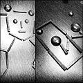 Oeuvres from le jeu Kiproko. A gauche, un nounours (rappeur selon certains). A droite, un miroir (magnifique). (7628195692).jpg