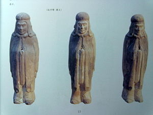 Northern Dynasties tombs of Ci County - Image: Ogive figurines(风帽俑)