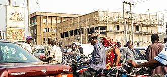 Okada (motorcycle taxi) - Image: Okada Lagos