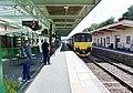 Okehampton Station and view towards Sampford Courtenay, Devon.jpg