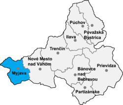 Location of Mijavas apriņķis