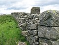 Old fashioned footpath stile in field wall - geograph.org.uk - 510749.jpg