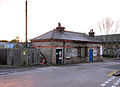 Old railway building by entrance to Ely station car park - geograph.org.uk - 1624749.jpg