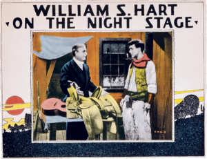 On the Night Stage (1915 film) - Lobby card.