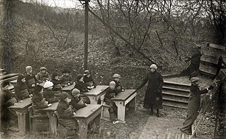 Open air school - Open air school in the Netherlands, 1918