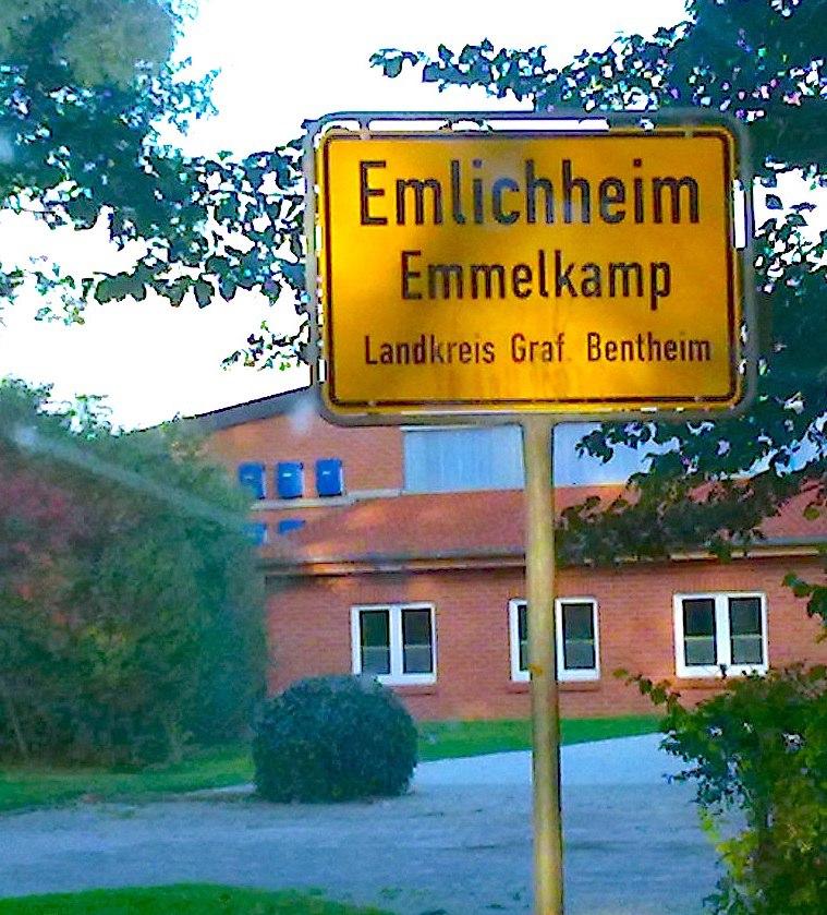Ortsschild Emlichheim - Emmelkamp cropped