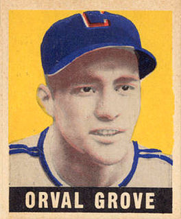Orval Grove American baseball pitcher