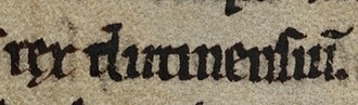 Owain Foel - Owain Foel's title as it appears on folio 94v of Cambridge Corpus Christi College 139.