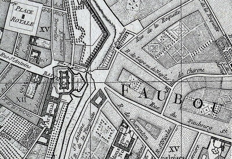 Fichier:P1010312 Carte de Paris Vaugondy-1760 rue de Lappe-rue de la Roquette reductwk.JPG