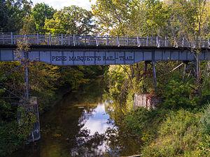 Pere Marquette Rail-Trail - Image: PM Rail trail