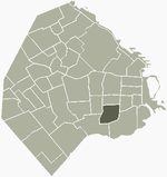 Location of Parque Patricios within Buenos Aires
