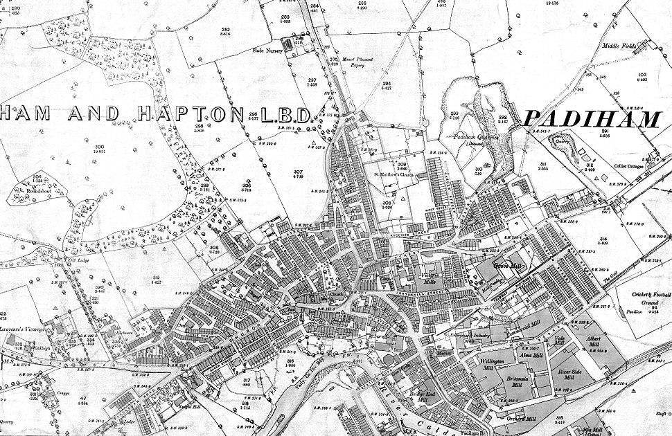 Padiham OS map 1890