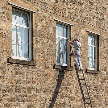 Painter. Anchor Mills, former embroidery mill, Paisley.jpg