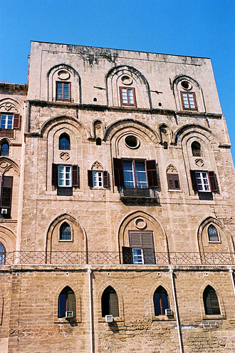 Norman conquest of southern Italy - The Palazzo dei Normanni was a 9th-century Arab palace in Sicily, converted by the Normans into their governing castle.