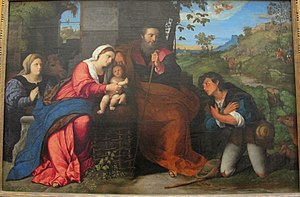 The Adoration of the Sheperds with a Donor